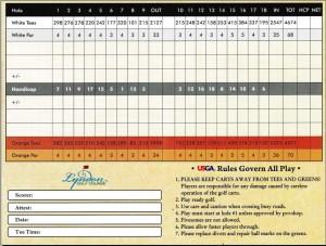 Scorecard Back